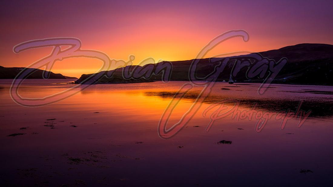 Roe Sound Sunset